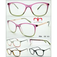Женские квадратные пластиковые очки для чтения с металлическим храмом (WRP509424)