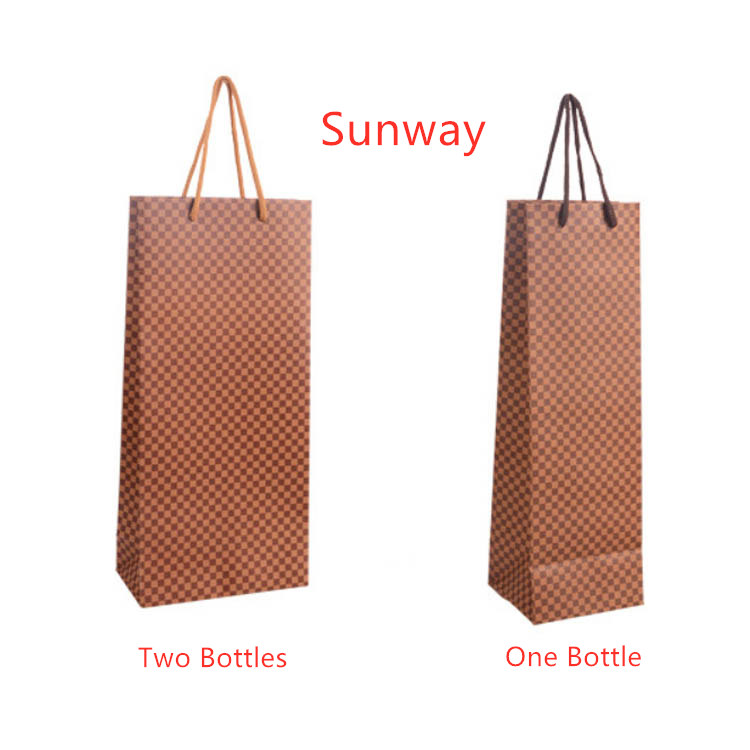 Gusseted paper wine bags