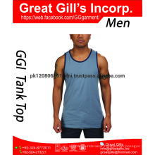 Custom Brand Gym Tank Top, 100% Cotton Man Tank Top