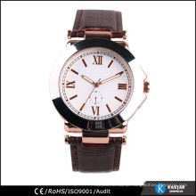 elegance watch for lady, genuine leather quartz watch