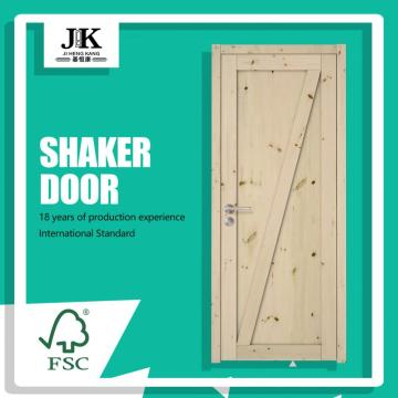 JHK-SK07 Southern Yellow Painting Pine Wood Doors For Sale