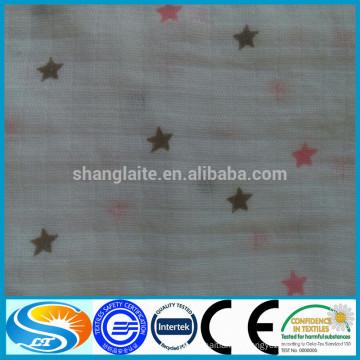 Fornecedores da China imprime tecido estampado de musselina