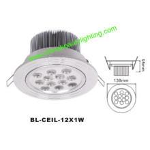 12W LED de luz LED Downlight LED de luz de techo