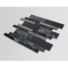 Theme KTV Interior Black Glass Mosaic Ceramic Tiles