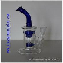 Fumando pipa de cristal con vidrio esmeriladas
