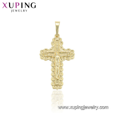33944 xuping Environmental Copper Fashion jewelry gold cross pendant