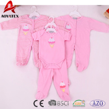 100% algodão 19-24 meses unisex rosa bonito macacão de bebê roupas
