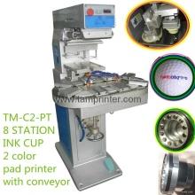 TM-C2-P zweifarbig gebogene Oberfläche Karussell Pad Drucker drucken