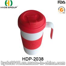Durable Eco-Friendly Plastic Coffee Mug with Handle (HDP-2038)