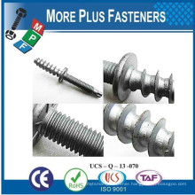 Made in Taiwan Special Wood to Wood Metal to Wood and Metal to Metal Double End Screw