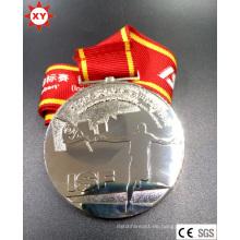 Heißer Verkauf Silber Metall Abzeichen mit Gravur