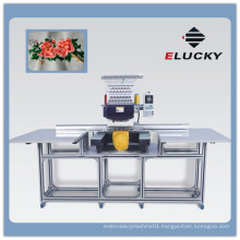 ELUCKY Big Embroidery Area Flat /Bedsheet Single Head Computer Embroidery Machine Price