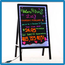 Outdoor 60*80 aluminium alloy 90 kinds flashing modes tempered glass led light menu signboard with free accessories