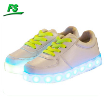 White led shoes, fashion white led shoes, young people led casual shoes