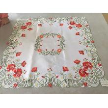 Toalha de mesa de dia de Páscoa de flor vermelha