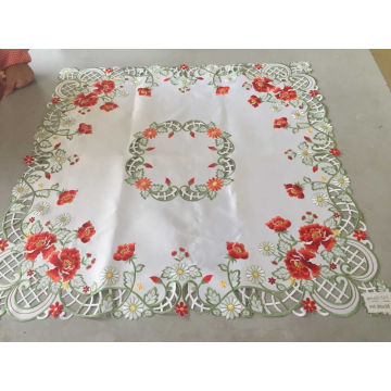 Red Flower Easter Day Tablecloth
