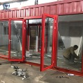 Malaysia international standard prefab red shipping overseas container house