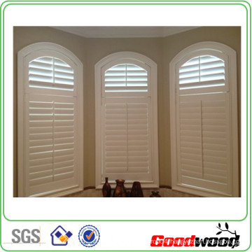 89mm Basswood Solid Wood Plantations Shutters Windows (Sgd-S-6006)