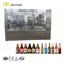 Máquina de llenado de bebidas de gas de botellas de vidrio
