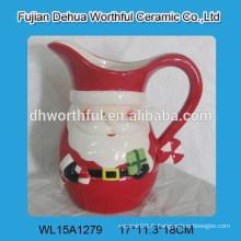 Mignon jolie crème en céramique de Noël avec le design de noël