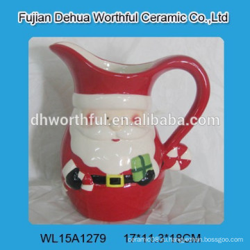Рождественский керамический крем-кувшин с дизайном Санта-Клауса
