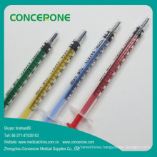 New Arrival Colored Syringe with Colorful Plunger