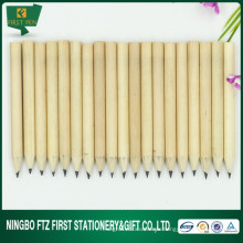Crayon en bois de couleur naturelle de 3,5 po pour enfants