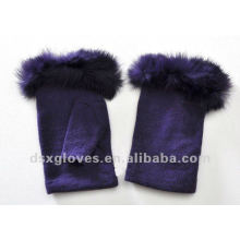 female half finger cashmere gloves