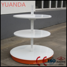 Ce ISO Certificated Round Supermarket Display Shelf