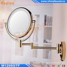 Wall Mounted Golden LED beleuchtete Make-up-Spiegel