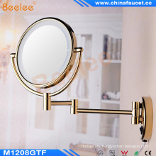 Wall Mounted Golden LED Lighted Makeup Mirror