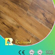 Plancher stratifié de revêtement de stratification de revêtement de cire d'érable de la gorge d'u de 12mm