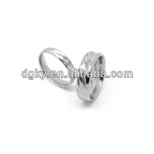 Stainless Steel High Polished Fashion Couple Ring