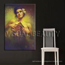 Печать на холсте сексуального голого полотна, рамка для домашнего декора