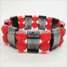 01B5009-1 / новые товары для 2013 / гематит проставка браслет ювелирные изделия / гематит браслет / магнитный гематит здоровья браслеты
