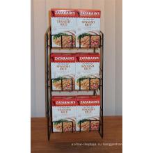 Металлическая Проволока 3-Слой Упакованные Испанский Рис Стеллаж Для Хранения Столешницу Закуска Или Собаку Для Выставки Товаров Еды