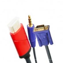 HDMI para cabo VGA + áudio de 3,5 mm