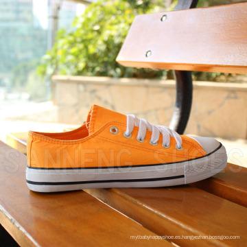 Zapatos de lona clásica de las mujeres zapatos de goma vulcanizada (SNC-03027)