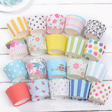 2016 Customizable pattern Disposable food grade muffin cups
