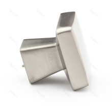 Satin Nickel Contemporary Square Cabinet Knob