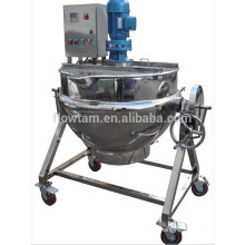stainless steel tilting electric heating cooking pot jacketed kettle for food grade