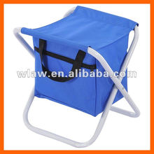 Foldable seat with cooler bag