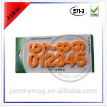Jammymag fantasia magnética número 3D adesivos decorativos