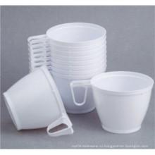 Пластиковая чашка для кофе с ручкой 6 унций / 180 мл