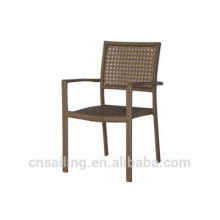 Popular Patio Waterproof alum pe wicker chair