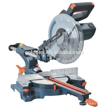 """Nuevo 255mm de 10 """"1900w de potencia de madera de corte de diapositivas compuesta Mitre Saw eléctrico de corte de corte de la máquina"""