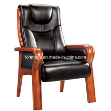 Genuine Leather Wooden Conference Chair (FOH-F10)
