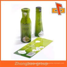 OEM fabricante de fábrica de China personalizar impermeable plástico PET sensibles al calor personalizadas encoger etiquetas de envolver con la impresión