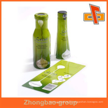 OEM factory china vendor customize waterproof plastic PET heat sensitive custom shrink wrap labels with printing