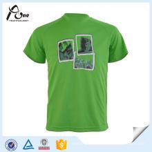 T-shirt fait sur commande de l'homme vert Sublimated Sportswear